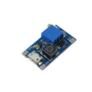 ماژول رگولاتور DC-DC افزاینده 2 آمپر با ورودی میکرو USB