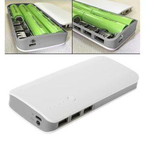 کیس پاور بانک سه خروجی USB به همراه برد 5 باتری