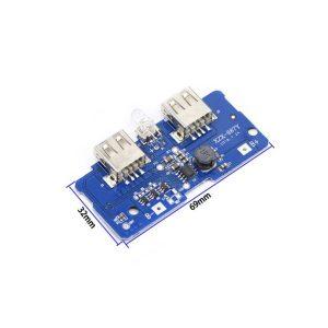 ماژول ساخت پاوربانک دارای دو خروجی 5V 1A - 2A USB