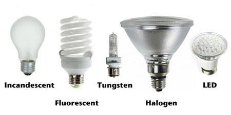 آشنایی با انواع لامپ ها