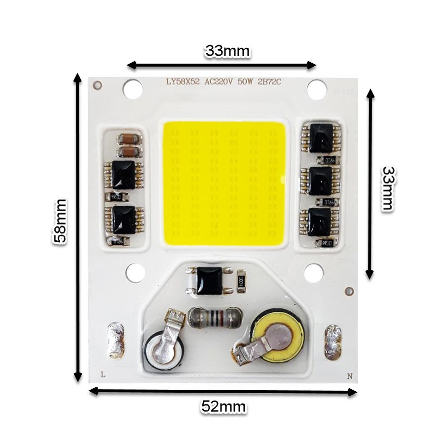 LED COB مهتابی 50W 220V با درایور داخلی - LY58X52