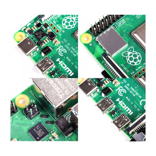 برد رزبری پای Raspberry Pi 4 مدل B رم 4GB تولید انگلستان