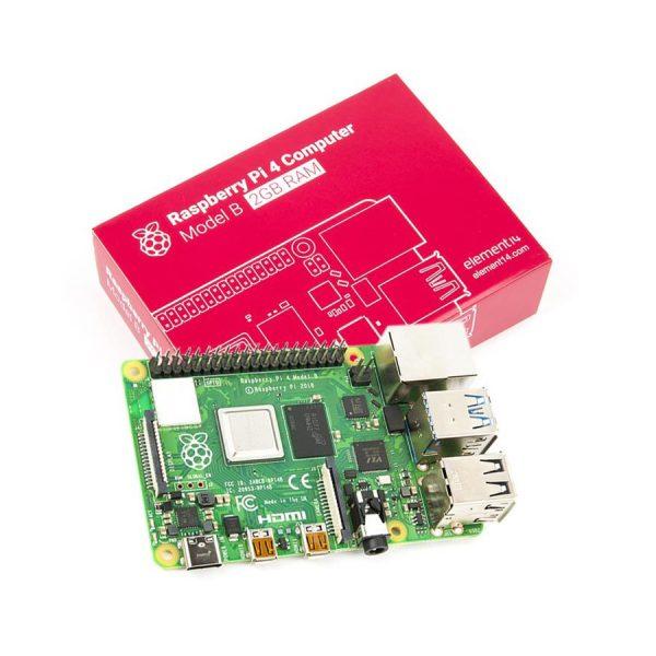 برد رزبری پای Raspberry Pi 4 مدل B رم 2GB تولید انگلستان