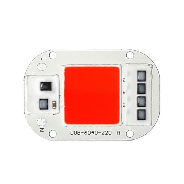 LED COB مخصوص رشد گیاه 50W 220V با درایور داخلی