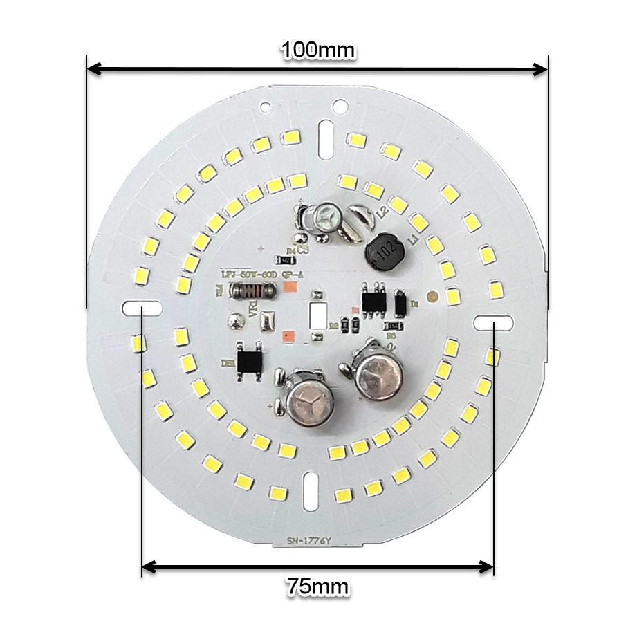 ال ای دی 50 وات 220 ولت گرد مهتابی قطر 100 میلیمتر