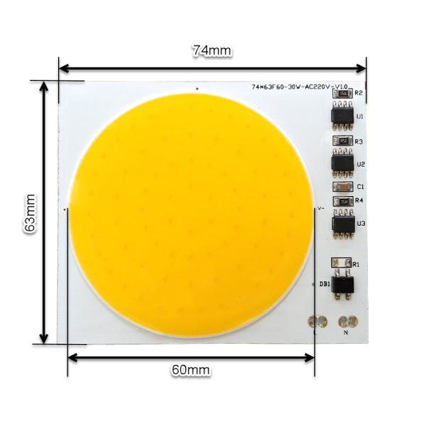 ال ای دی COB آفتابی 30W 220V با درایور داخلی