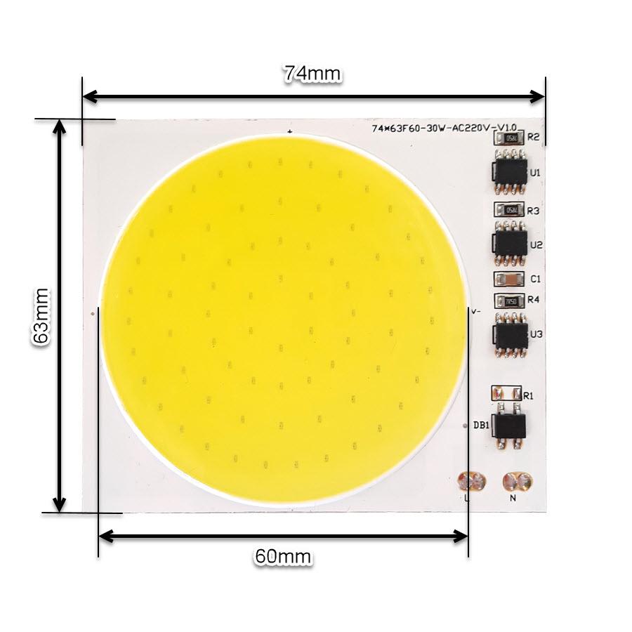 ال ای دی COB مهتابی 30W 220V با درایور داخلی