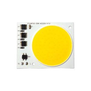 ال ای دی COB آفتابی 30W 220V با درایور داخلی 57X46 میلیمتر