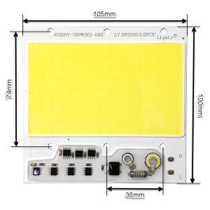 LED COB مهتابی 100W 220V با درایور داخلی – LY.105X100