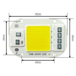 ال ای دی COB مهتابی 50W 220V با درایور داخلی 6040