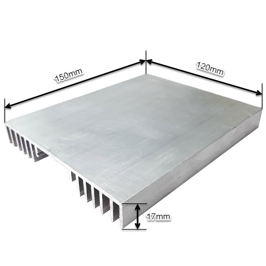 ابعاد هیت سینک آلومینیومی پروژکتوری 150x120x17mm