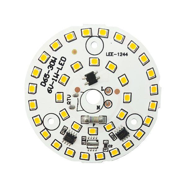 ال ای دی 30 وات 220 ولت سفید آفتابی قطر 65 میلیمتر