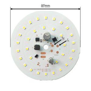 ابعاد ال ای دی 35 وات 220 ولت سفید مهتابی قطر 97 میلیمتر