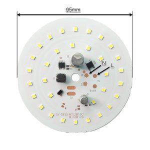 ابعاد ال ای دی 35 وات ۲۲۰ ولت گرد سفید مهتابی قطر 95 میلیمتر
