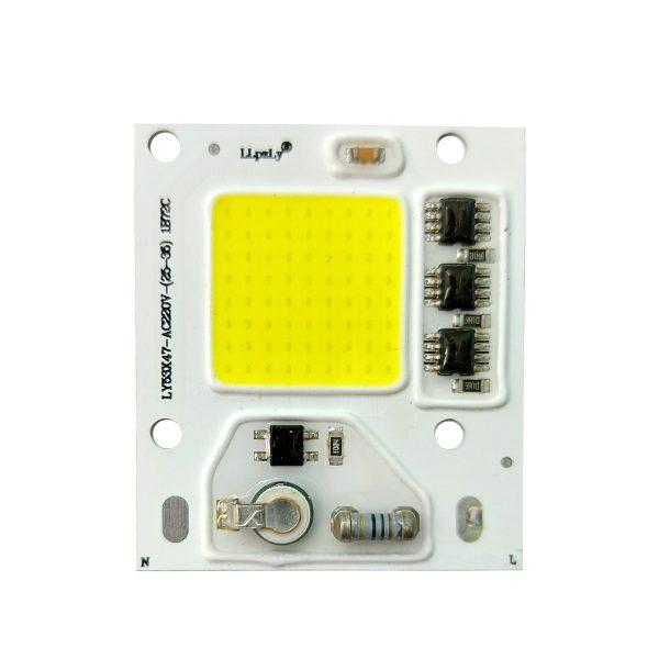 LED COB سفید مهتابی 30W 220V با درایور داخلی - LY53X47