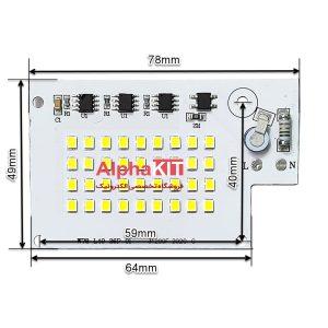 ابعاد ال ای دی پروژکتوری SMD 30W 220V سفید مهتابی