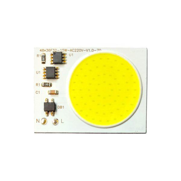 ال ای دی COB مهتابی 15W 220V با درایور داخلی 48X36 میلیمتر