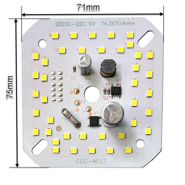 ال ای دی 40 وات 220 ولت سفید مهتابی خازن دار