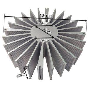 ابعاد هیت سینک آلومینیومی 161x53mm