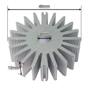 ابعاد هیت سینک آلومینیومی 46x15mm