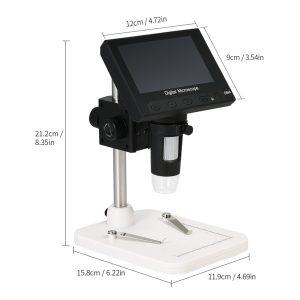 میکروسکوپ دیجیتال 1000X Portable Digital Microscope دارای نمایشگر 4.3 اینچی مدل DM4