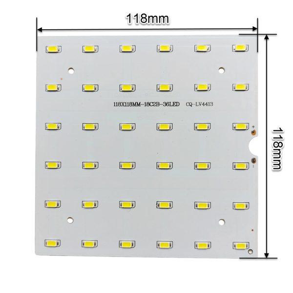 ال ای دی 18 وات 300 میلی آمپر SMD سفید آفتابی مربع