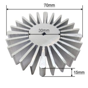 هیت سینک آلومینیومی خورشیدی 70x15mm