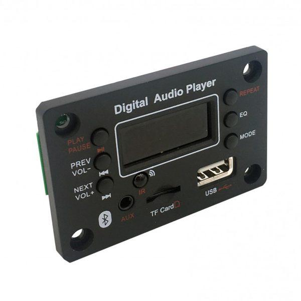 پخش کننده بلوتوثی 12V پنلی MP3 پشتیبانی از MicroSD و USB با ریموت کنترل مدل G016B