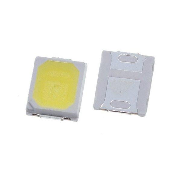 SMD LED پکیج 2835 سفید یخی 9V 0.5W بسته 20 تایی