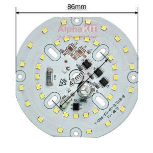 ال ای دی 40 وات 220 ولت گرد سفید مهتابی خازن دار