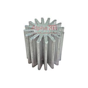 هیت سینک آلومینیومی استوانه ای 16 پره 25x25mm