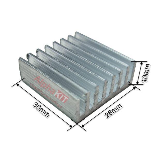 هیت سینک مخصوص پردازنده و تراشه های SMD سایز 30X28X10mm