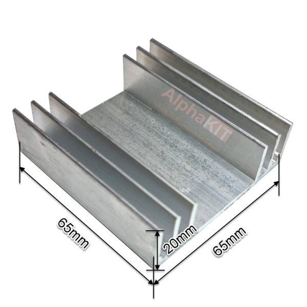 ابعاد هیت سینک شانه ای 65X65X20 میلیمتر
