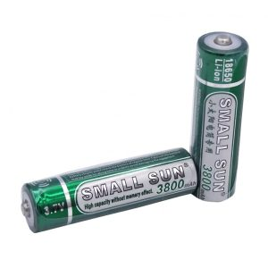 باتری لیتیوم یون 3.7 ولت 3800mAh سایز 18650 مارک Small Sun