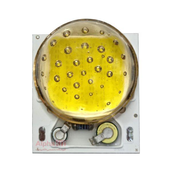 لنز محدب پروژکتور ال ای دی شیشه ای طلایی قطر 50 میلیمتر